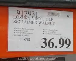 deal for the golden arowana reclaimed walnut luxury vinyl plank at costco