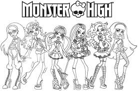 Small Picture Free Cartoon Monster High For Kids Coloring Pages Printable For