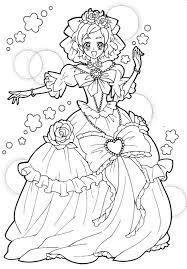Tranh tô màu công chúa cho bé gái