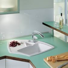 drop in white kitchen sink. Plain Kitchen Drop In Corner Kitchen Sink With Single Bowl Enameled Cast Iron And  Drainboard White