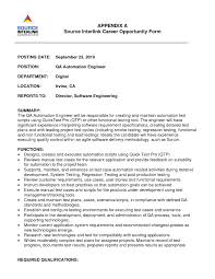 Gui Testing Resume Software Quality Assurance Resume Entry Level