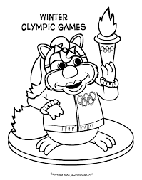 Winter Olympic Games Free Coloring Pages For Kids Printable