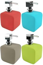 contemporary soft touch soap dispenser square ceramic soap pump