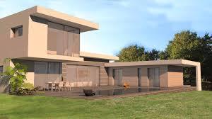 une vue de la faaade ouest. Atelier D\u0027architecture Scenario - Maison Contemporaine à Casquettes Et Porte-à-faux Une Vue De La Faaade Ouest