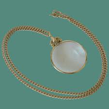 magnifying glass pendant necklace avon