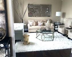 my formal living room with copper accents and white faux fur rug home sweet decor wayfair small white faux fur rug