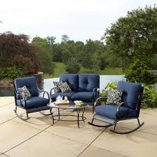 La Z Boy Outdoor Avery 4pc Seating Set Blue Limited Availability