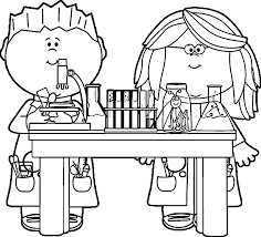 Small Picture Science Coloring Pages Best Coloring Page