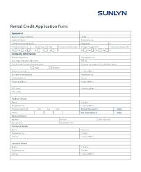 Rental Credit Application Free New Jersey Rental Application Template Credit Form