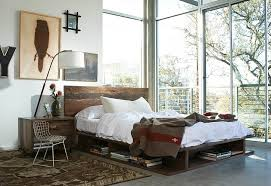 ... Trendy bedroom in LA with chic industrial style [Design: Marco Polo  Imports]