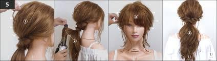 ポニーテールした髪の毛で結び目のゴムを隠すやり方