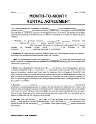 month to month al lease agreement