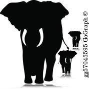 Vectors Silhouettes Vector Illustration Elephant Wild Vectors Silhouettes Eps Clipart