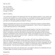 Teaching Position Cover Letter