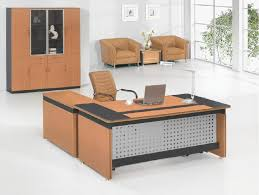 wood office tables confortable remodel. Comely White Home Designed With Modern Brown Wooden Office Interior Set Plus Comfortable Chair Design Wood Tables Confortable Remodel
