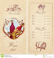 Free Wine List Template Download Wine List Template Stock Vector Illustration Of Ecology 40586139