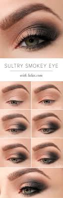 y eye makeup tutorials sultry smokey eye makeup tutorial easy guides on how to