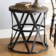rustic metal and wood end tables end and wood end tables end table impressive wood and