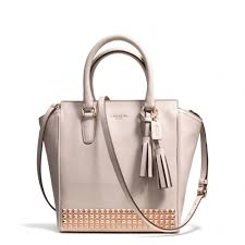 Lyst - Coach Legacy Mini Tanner Crossbody in Studded Leather in Natural