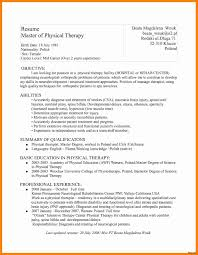 Physical Therapy Resume Physical Therapy Resume Format Therpgmovie 1