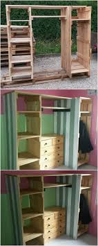 Cupboards Made From Pallets Best 25 Pallet Wardrobe Ideas On Pinterest Pallet Closet