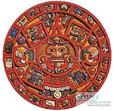 Mayan Patterns Gorgeous Mayan Doomsday Calendar Cross Stitch Pattern Other
