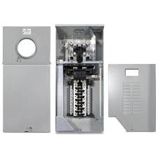 ge 200 amp 4 space 8 circuit outdoor combination main breaker ge 200 amp 4 space 8 circuit outdoor combination main breaker ringless meter socket load center tsmr420csflfmg the home depot