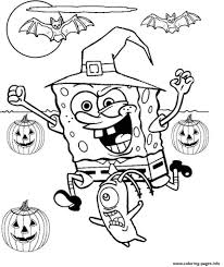 Spongebob Halloween Coloring Pages - FunyColoring