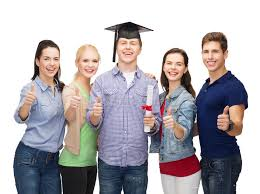 group of students diploma showing thumbs up stock image   group of students diploma showing thumbs up stock image image 35563499