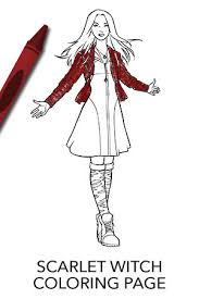 Small Picture Avengers Scarlet Witch Coloring Page Disney Movies