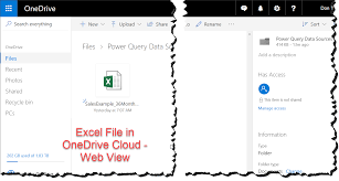 What Is Ms Onedrive Ms Excel Connecting Powerquery To An Excel File In The Cloud