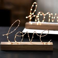 Creative Home Decorative Figurines Ornaments Led Lamp Light Love