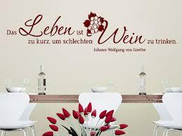 Wandtattoo Leben Und Wein Zitat Mit Weintrauben Wandtattoode Mit