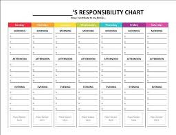 Personalized Printable Kids Chore Chart Family Cleaning