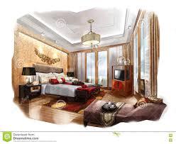 Bedroom Interior Design Sketches Sketch Perspective Interior Bedroom Into A Watercolor On