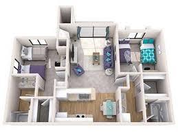 GCU North Rim Unit C 3D Interior Rendering      Apartment 2017-2018 ...