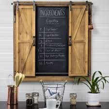 decorative chalkboards for various functions. American Art Decor Chalkboard Sliding Barn Doors Message Board Organizer - Free Shipping Today Overstock 23309835 Decorative Chalkboards For Various Functions