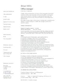 Office Manager Skills Resume Beauteous Organisational Managerial Skills Resume Office Manager