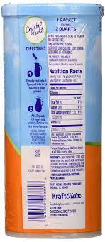 Sugar Free Crystal Light Nutrition Facts Details About Crystal Light Sugar Free Peach Mango Green Tea Powdered Drink Mix Low Caffeine