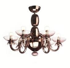 modern pink murano glass chandelier querini dining room by yourmurano lighting uk