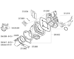 Cylinder head polini aluminum sport 70cc piaggio lc