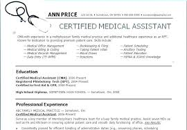 Example Of A Medical Assistant Resumes Sample Resumes For Medical Assistants Vitadance Me