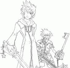 Small Picture Kingdom Hearts 2 Coloring Pages Coloring Home