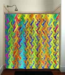 colorful shower curtain bright colored fabric shower curtains