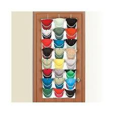 Over The Door Hat Rack Extraordinary Over The Door Hat Organizer Clear Pockets Hanging Canvas Storage Cap