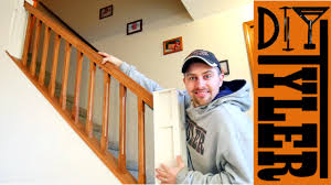 build a stair railing for a half wall