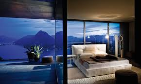 interior natural view for awesome bed rooms with big glass window closed fresh plant on awesome great cool bedroom designs