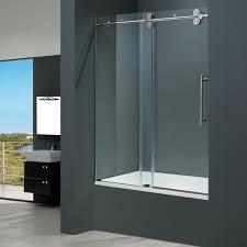 frameless sliding shower doors tub. House · Vigo 60-inch Clear Glass Frameless Tub Sliding Door Shower Doors A