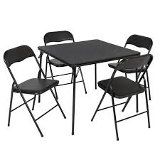 5PC Folding Table & Chairs Card Poker Game Parties Portable Furniture  Dining Set
