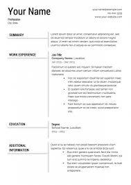 Standard Format For Resume International Resume Format Free Download Resume Format Cv